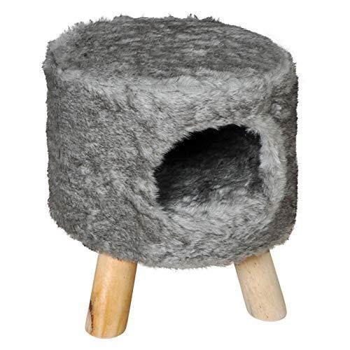 Katzenhocker Coco, Grau Katzenhöhle, Super Kuschelig