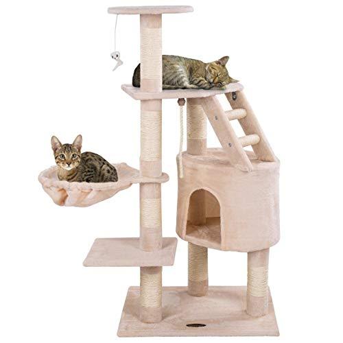 Happypet® Kratzbaum für Katzen mittelgroß 120 cm