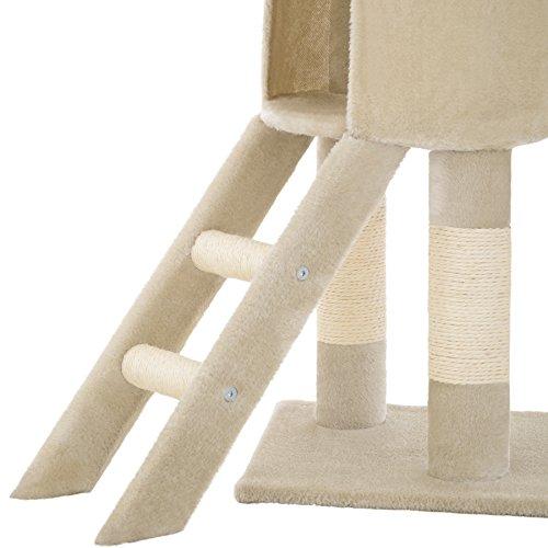 TecTake Kratzbaum für Katzen | Mittelhoch mit Sisalstangen | - Diverse Farben - (Beige | Nr. 401434) - 7
