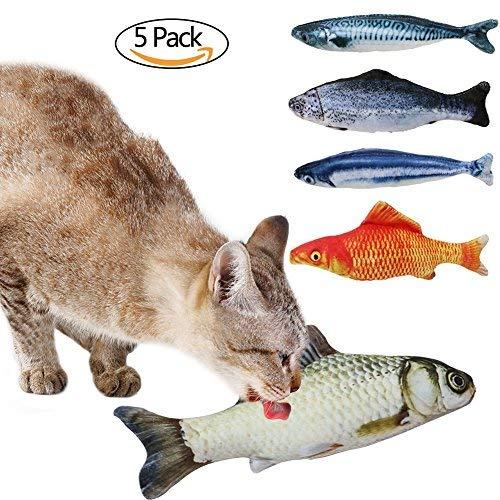 Katzenminze Spielzeug, Baldriankissen Fisch