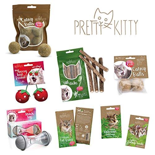 PRETTY KITTY 4x Katzenminze Ball XXL (ø4cm) aus 100% natürlicher Katzenminze als aufregendes Spielzeug für Katzen (4er Pack, 95g) - 6
