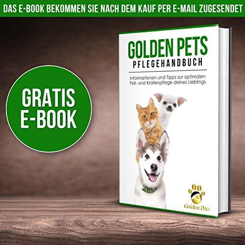 Golden Pets Softbürste | Ideal für Kleine Hunde, Welpen, Katzen, Hasen und Meerschweinchen | Schutznoppen für besonders empfindliche Tiere | + Gratis E-Book Pflegehandbuch - 7