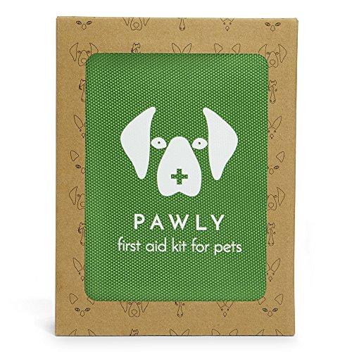 Pawly Erste-Hilfe-Set für Haustiere - Enthält über 40 Premium-Artikel - Zeckenentferner, Spritze, Bandagen, Tücher und Lanzetten - 5