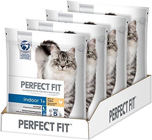 Perfect Fit Katzen-/Trockenfutter Adult 1+, Reich an Huhn, 4x