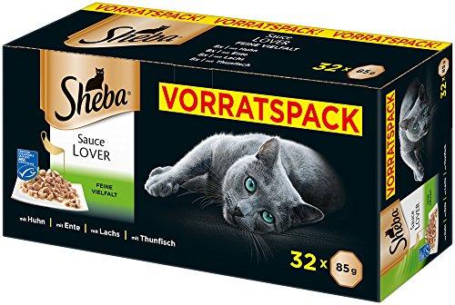 Sheba Adult Katzen-/Nassfutter Multipack, 32 Schalen