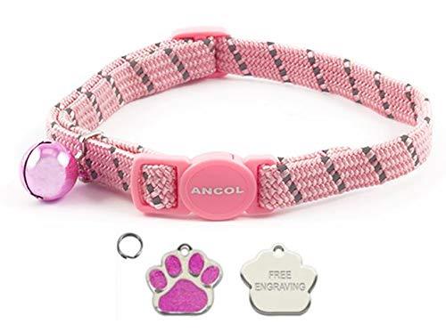 Ancol Katzen Pink Halsband, reflektierend, elastisch