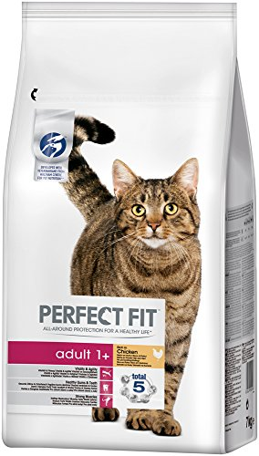 Perfect Fit Katzen-/Trockenfutter Adult 1+, Huhn, 1 Beutel (7 kg)