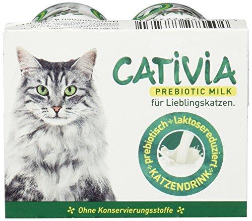 Dehner Cativia, prebiotische Katzenmilch, 4 Flaschen