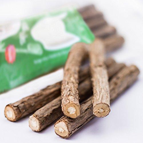 PRETTY KITTY Katzenminze Sticks aus echtem Matatabi Holz als Katzenspielzeug zur Zahnpflege und gegen Mundgeruch (5 Kausticks) - 2