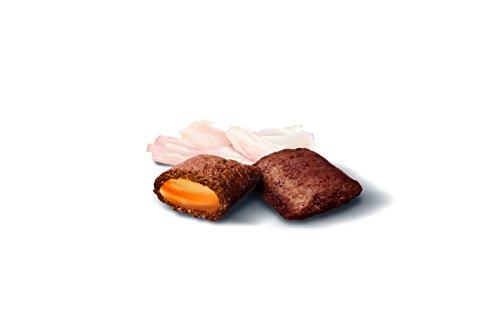 GimCat Nutri Pockets – Knuspersnack mit cremiger Füllung und funktionalen Inhaltsstoffen – ohne Zuckerzusatz – Geflügel & Biotin – 3 Beutel (3 x 60 g) - 2