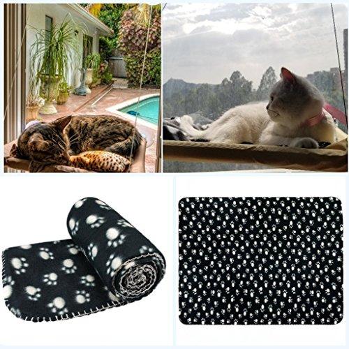 JZK Katzen Fensterplatz Window Lounger Katzen Hängematte + Katzendecke, Sonnenbad Katzenbett Haustierbett für Haustier Katze klein Hund Kaninchen oder andere Kleintiere - 5