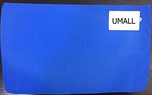 UMALL Katzenstreu Matte 60x40 Wasserdichte Vorleger für Katzentoiletten Doppelt Eva Leicht Zu Reinigen Katzentoilette Waben Design Prägen Katzenklo Matte (Rot, Cat Shape - 65 x 49cm) - 2