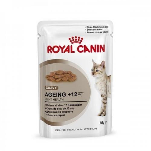 Royal Canin Frischebeutel Health Nutrition Ageing +12 in Sosse Multipack 12x85g, Nassfutter, Katzenfutter