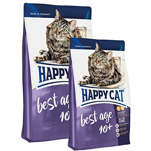 Happy Cat Best Age 10+ - 4 kg + 2 x 300g