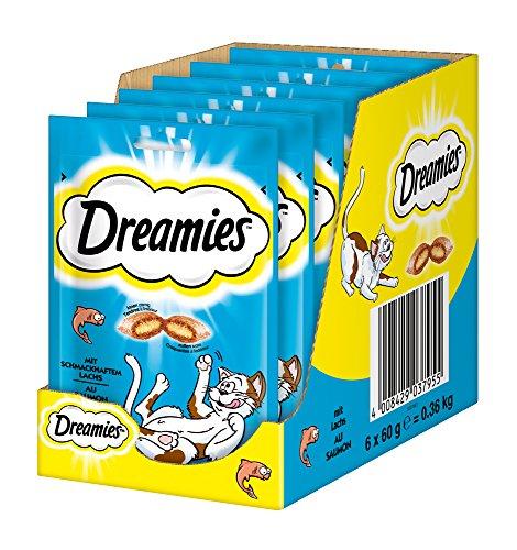 Dreamies Katzensnacks/Klassiker mit Lachs (6 x 60 g)