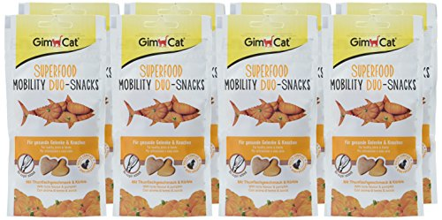 GimCat Superfood Mobility Duo-Snacks mit Thunfischgeschmack und Kürbis – Katzenleckerlies ohne Zuckerzusatz zur Stärkung der Knochen und Gelenke – 8 Packungen (8 x 40g) - 2
