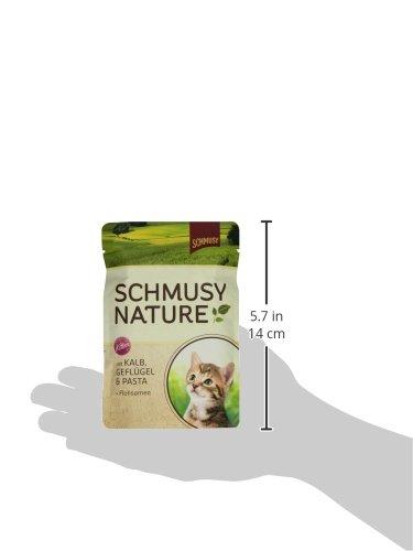 Schmusy Katzenfutter Nature Balance für Kitten mit Kalb 100 g, 24er Pack (24 x 100 g) - 4