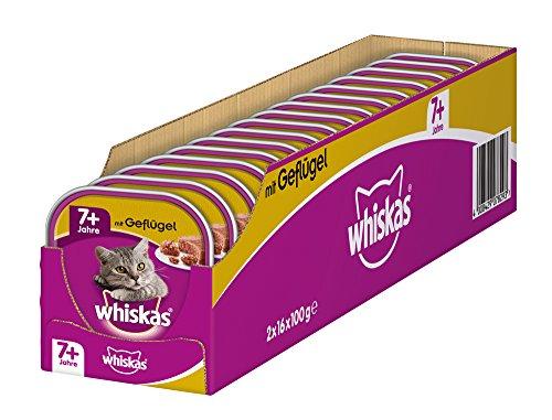 Whiskas Katzen-/Nassfutter Senior 7+ mit Geflügel