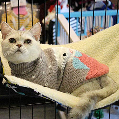 PET SPPTIES Hängematte Käfig Katzenhängematte Hängendes Bett für Katzen, Frettchen, Ratte, Kaninchen, Kleine Hunde oder Andere Haustiere PS037 (L:53 * 35cm, Tiger Pattern) - 2