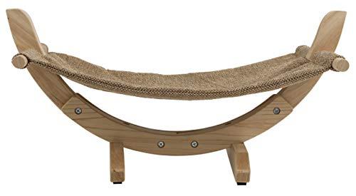 Kerbl 81559 Hängematte Siesta 2.0 mit Holzgestell, 61 x 37 x 29 cm, braun - 4