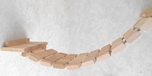 Jennys Tiershop Katzen Wandpark, handgefertigte Tiermöbel/Luxusmöbel, Katzenmöbel in vielen Ausführungen, Kratzbaum/Katzenbaum für die Wand. Hier: Deckenabhängung, 3 Teilig (15511fff) - 3