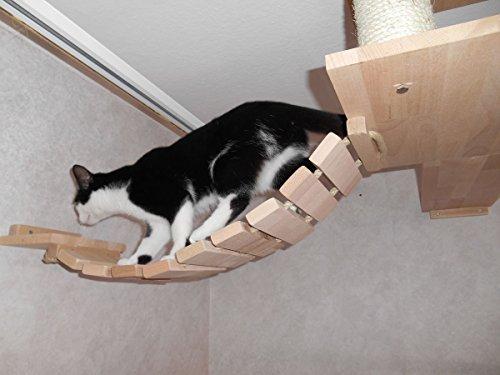 Jennys Tiershop Katzen Wandpark, handgefertigte Tiermöbel/Luxusmöbel, Katzenmöbel in vielen Ausführungen, Kratzbaum/Katzenbaum für die Wand. Hier: Deckenabhängung, 3 Teilig (15511fff) - 4