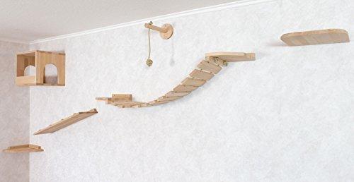 Katzen Wandpark,Tiermöbel, Katzenbaum für die Wand, 6-teilig