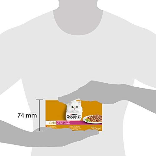 Purina GOURMET Gold Feine Komposition: Katzennassfutter, hochwertige Tiernahrung für ausgewachsene Katzen, Dose, 12 x 4 x 85 g - 3