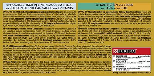 Purina GOURMET Gold Feine Komposition: Katzennassfutter, hochwertige Tiernahrung für ausgewachsene Katzen, Dose, 12 x 4 x 85 g - 4