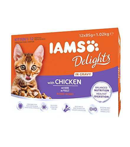 IAMS Delights Kitten Futter mit Huhn in Sauce 1-12 Monate