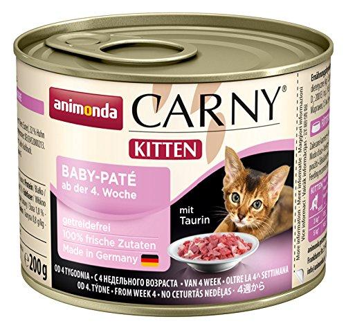 Animonda Katzenfutter Carny Kitten Baby-Pate, 6er Pack