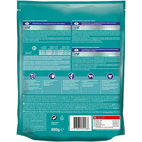 Purina ONE BIFENSIS Senior 7+ Katzentrockenfutter: reich an Huhn & Vollkorn-Getreide, unterstützt Vitalfunktionen I ab 7 Jahre I 6er Pack (6 x 800 g) - 2