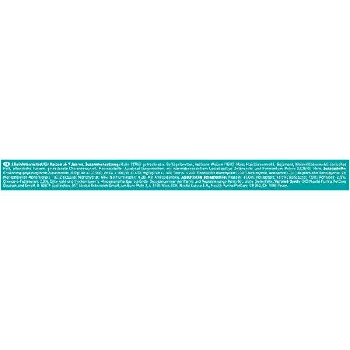 Purina ONE BIFENSIS Senior 7+ Katzentrockenfutter: reich an Huhn & Vollkorn-Getreide, unterstützt Vitalfunktionen I ab 7 Jahre I 6er Pack (6 x 800 g) - 4