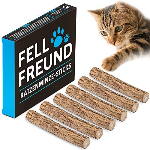 Katzenminze Stick, 6 Stück, Katzenspielzeug, 100% Natur