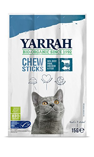 Yarrah Kausticks 15g Bio Katzensnack, 25er Pack