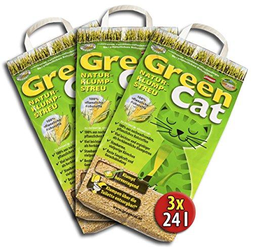 6x12 =72 Liter GreenCat ÖKO-PLUS KATZENSTREU