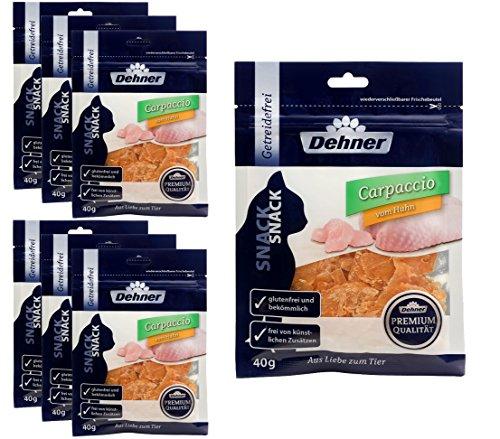 Dehner Premium Katzensnack, Carpaccio Huhn, 7 x 40 g