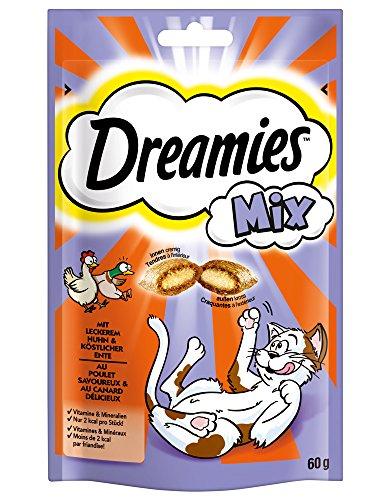 Dreamies Katzensnacks Katzenleckerli Mix mit Huhn und Ente, 6 Packungen (6 x 60g) - 3