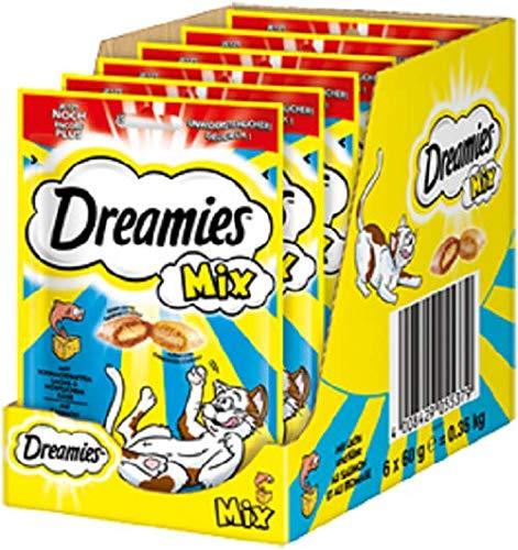 Dreamies Katzensnacks Katzenleckerli Mix Lachs und Käse