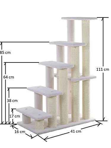 Armarkat Katzentreppe/Tiertreppe / Hundetreppe bis 111 cm hoch mit Ø11 oder Ø9 cm dicken Stämmen (E) - 3