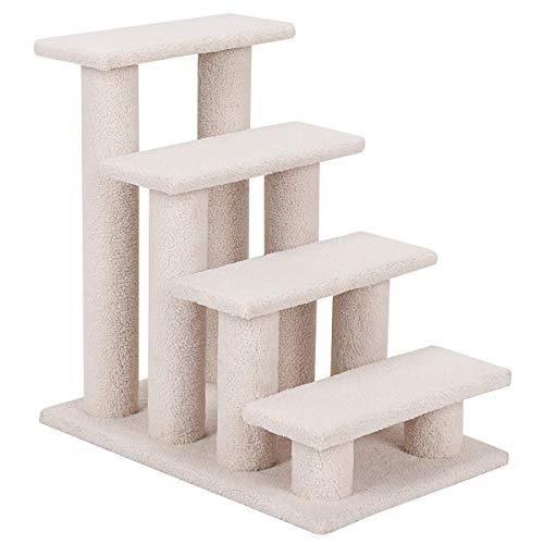 COSTWAY Tiertreppe Katzentreppe, 4 Aussichtplattformen