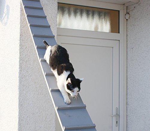 Elmato Katzentreppe, Katzenleiter wetterfest lackiert