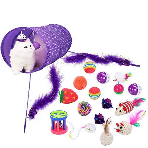Legendog Katzenspielzeug Set, 17 Stück Kittenspielzeug