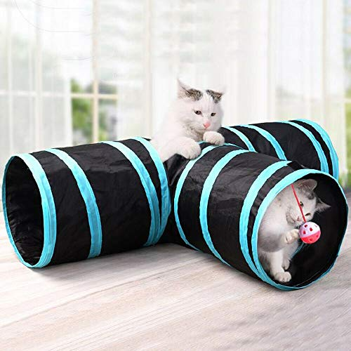 Allright Katzentunnel Katzenspielzeug Katze Spielzeug 3 Wege Spieltunnel Faltbar Tunnel - 4