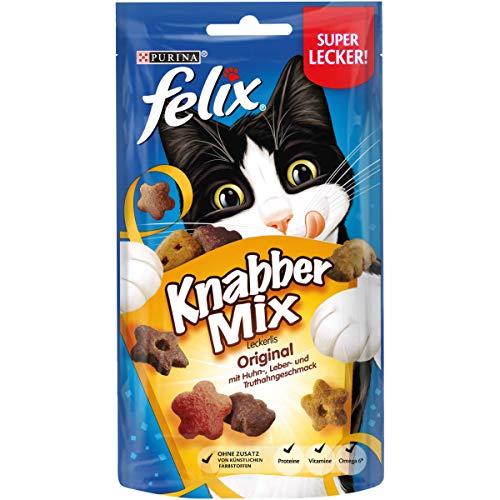 FELIX KnabberMix Katzen-Leckerlis (8x60g Beutel)