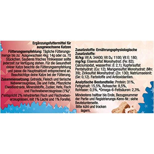 Felix Crispies Katzensnack mit Lachs- und Forellengeschmack, 8er Pack (8 x 45 g) - 4