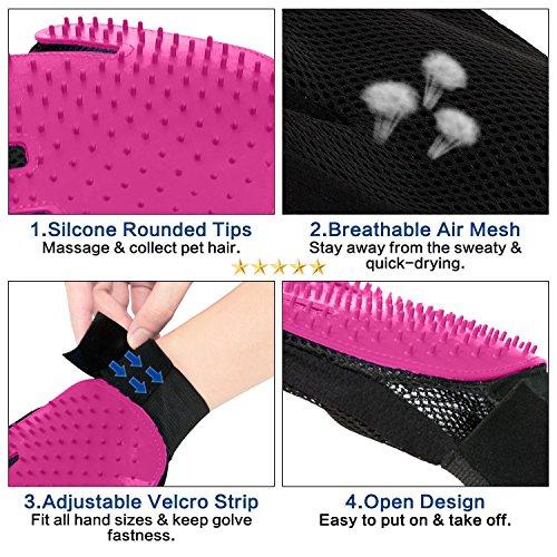 Ontoi | Professioneller Tierhaar Handschuh zur Entfernung Loser Tierhaare | Langhaar & Kurzhaar - 4