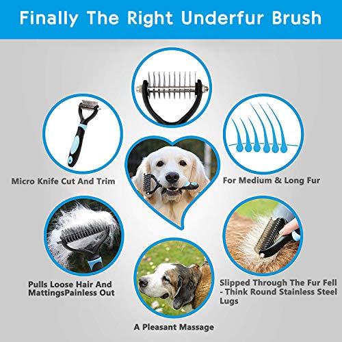 Haustier Bürsten Handschuh Fellpflege-Handschuh Grooming Massagehandschuh Hundebürste Katzenbürste Fellbürste für Hunde Katzen JAANY - 6
