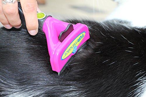 FURminator FURflex, Fellpflegebürste für große Katzen, deShedding-Tool zur Entfernung der Unterwolle, Größe L - 3