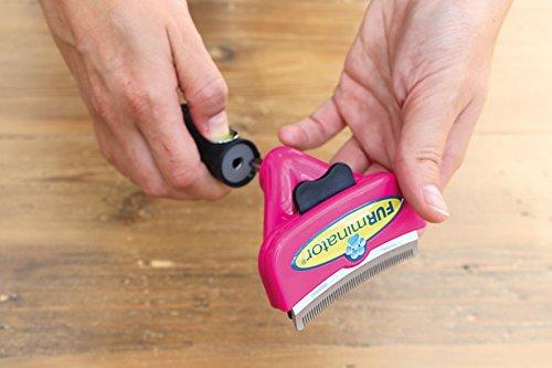 FURminator FURflex, Fellpflegebürste für große Katzen, deShedding-Tool zur Entfernung der Unterwolle, Größe L - 5